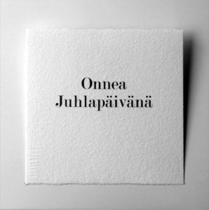 Kortti teksti / Onnea Juhlapäivänä-0