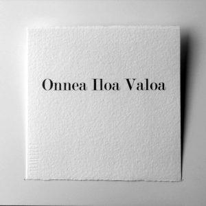 Kortti teksti / Onnea Iloa valoa-0