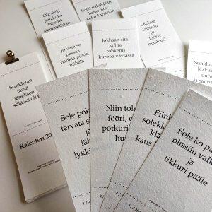 tornionjokilaakson murretta sisltävä kalenteri tuo iloa koko vuodeksi. osta paperivalo.fi verkkokaupasta.