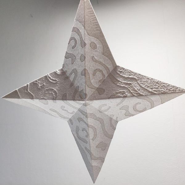 kristalli paperitähti joulukoriste paperitaidetta
